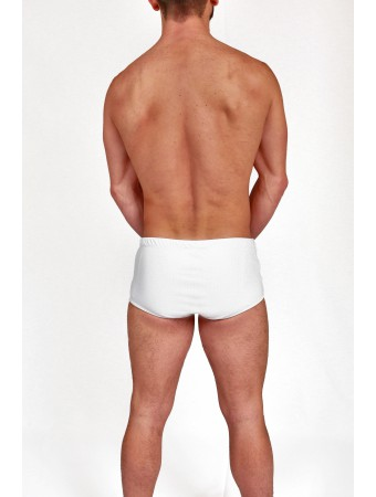 White Boxer Brazilian Trunks Piqué