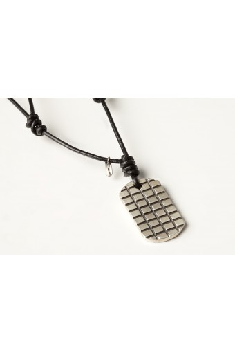 Leather Neck Chain AM Summerfield with Silver