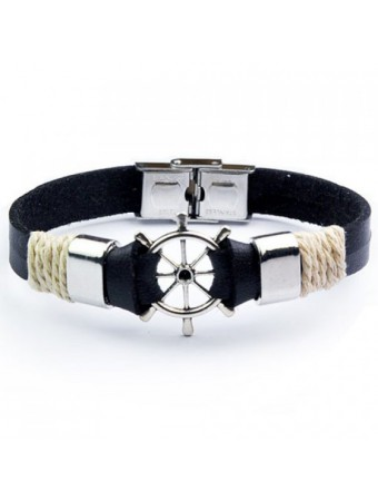 Synthetic Leather bracelet helm Shape