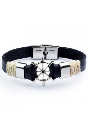 Synthetic Leather bracelet helm Shape