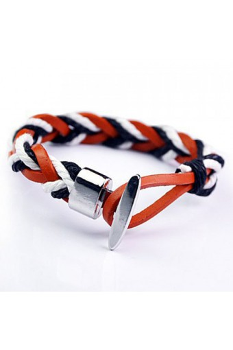 Synthetic leather Bracelet bicolor